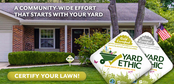 certify your lawn text over photo of house and front yard